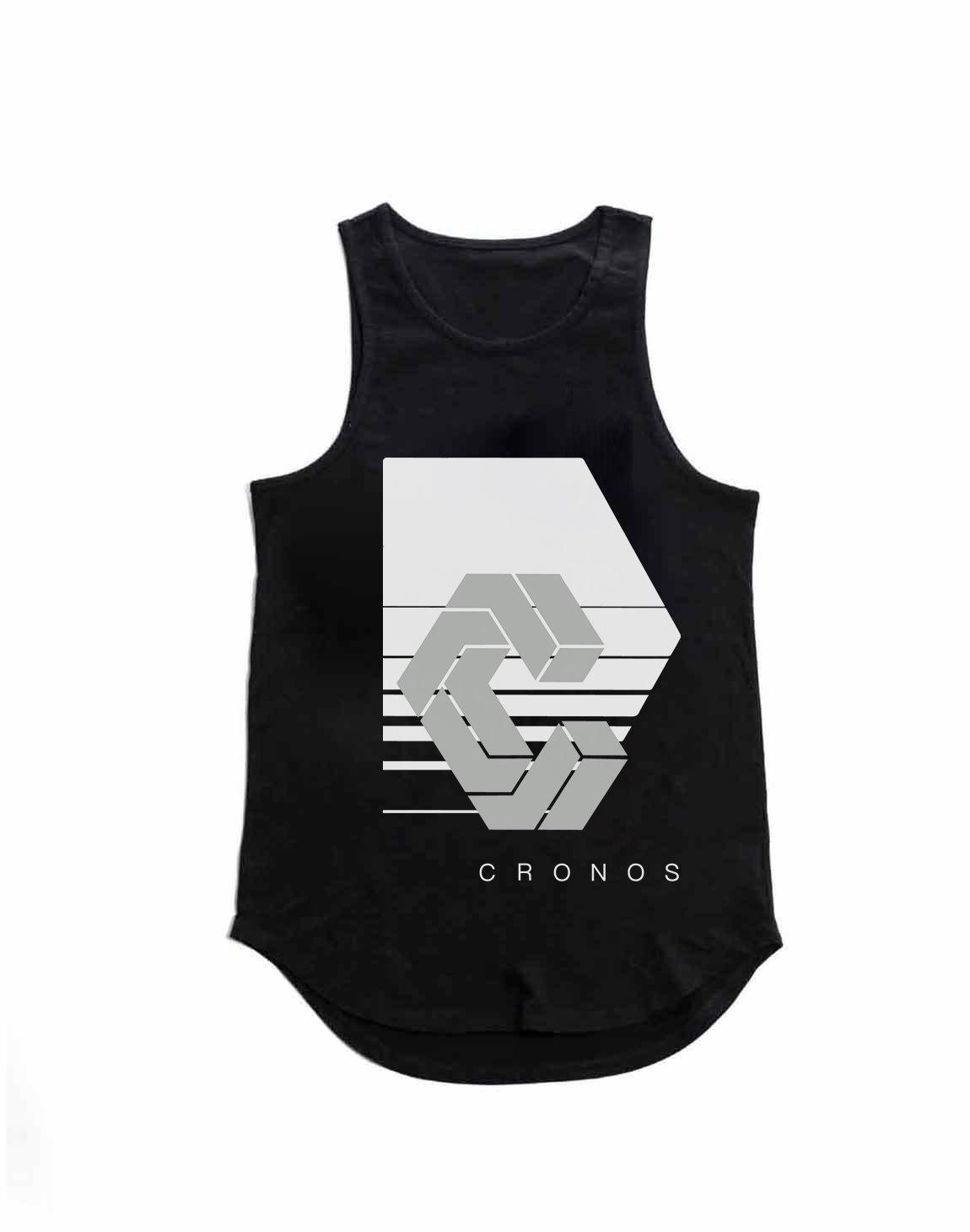 CRONOS REFLECTION LOGO TANK TOP【BLACK】