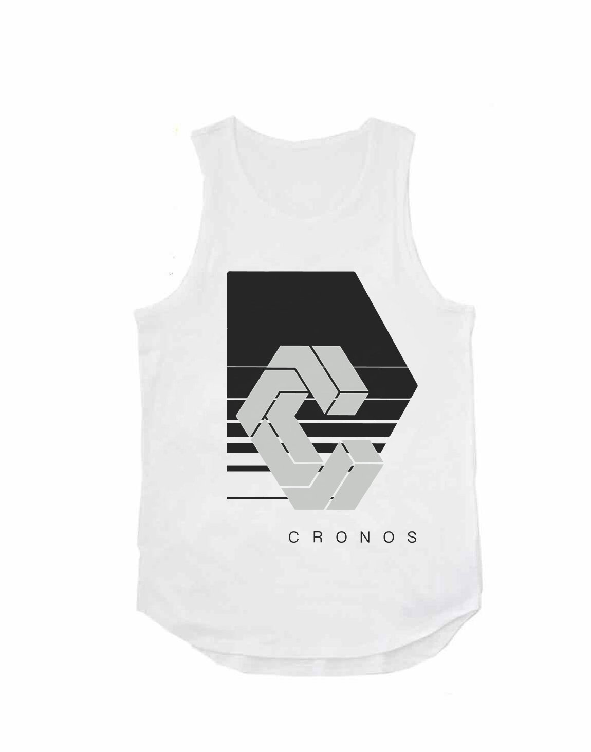 CRONOS REFLECTION LOGO TANK TOP【WHITE】