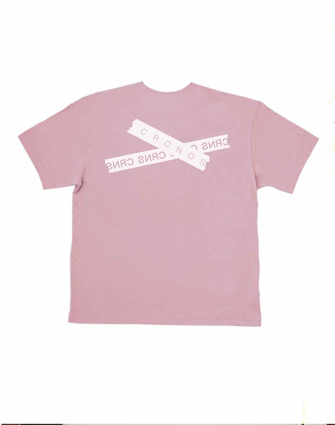 CRONOS TAPE LOGO OVER SIZE T-SHIRTS【PINK】