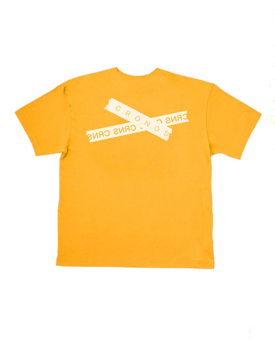 CRONOS TAPE LOGO OVER SIZE T-SHIRTS【YELLOW】