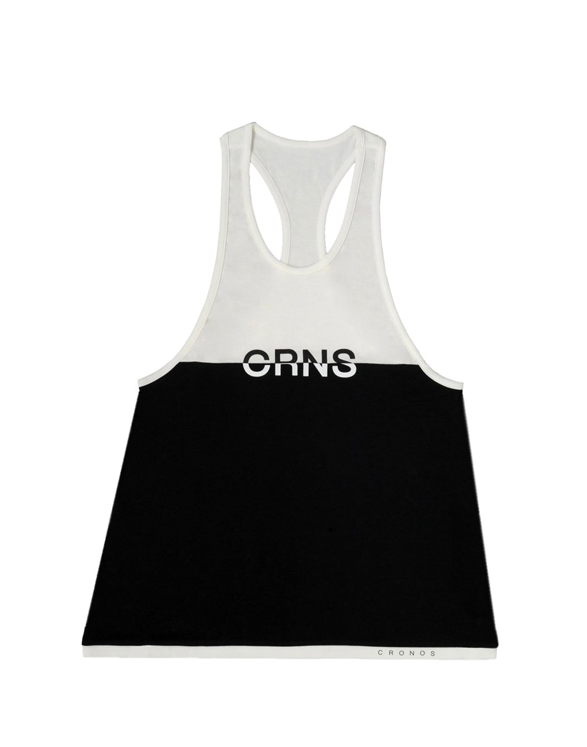 <img class='new_mark_img1' src='https://img.shop-pro.jp/img/new/icons55.gif' style='border:none;display:inline;margin:0px;padding:0px;width:auto;' />CRNS Bi-COLOR TANK TOP【BLACK×WHITE】