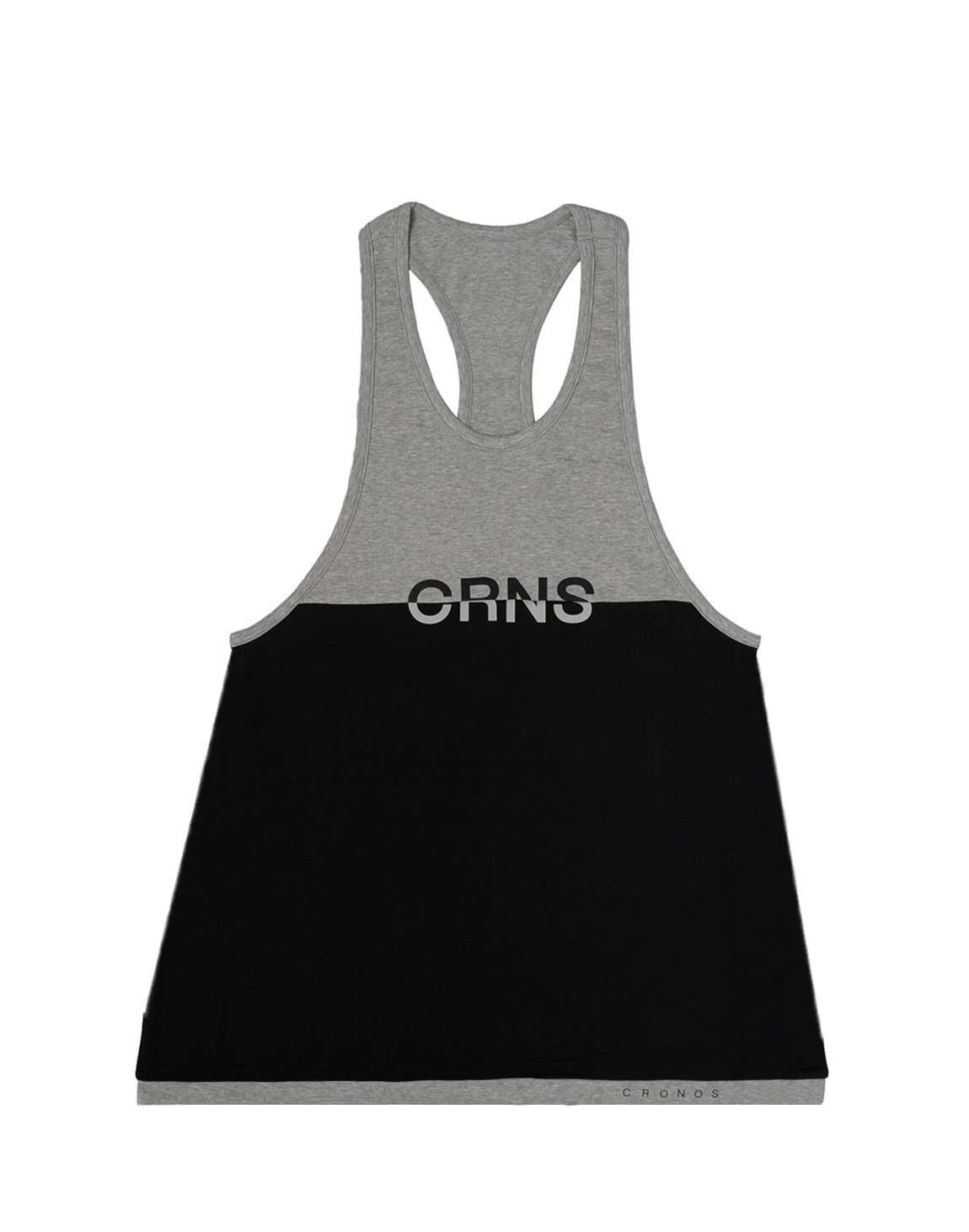 <img class='new_mark_img1' src='https://img.shop-pro.jp/img/new/icons55.gif' style='border:none;display:inline;margin:0px;padding:0px;width:auto;' />CRNS Bi-COLOR TANK TOP【BLACK×GRAY】