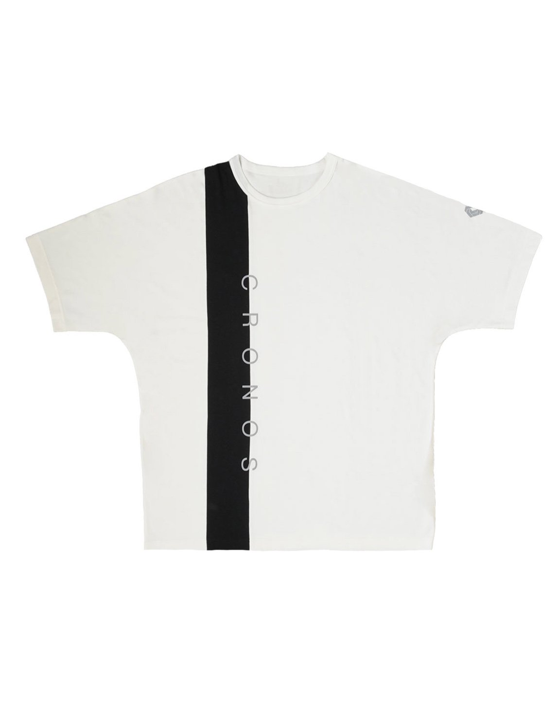 CRONOS VERTICAL LINE OVER SIZE T-SHIRTS【WHITE】