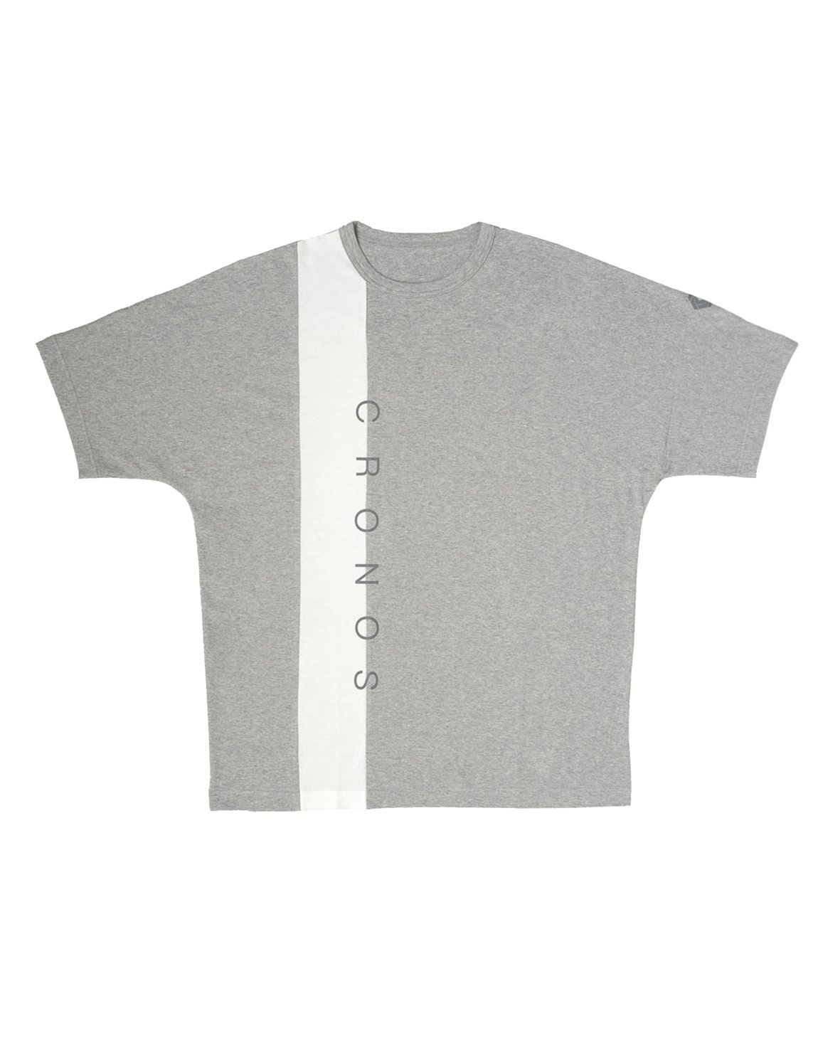 CRONOS VERTICAL LINE OVER SIZE T-SHIRTS【GRAY】