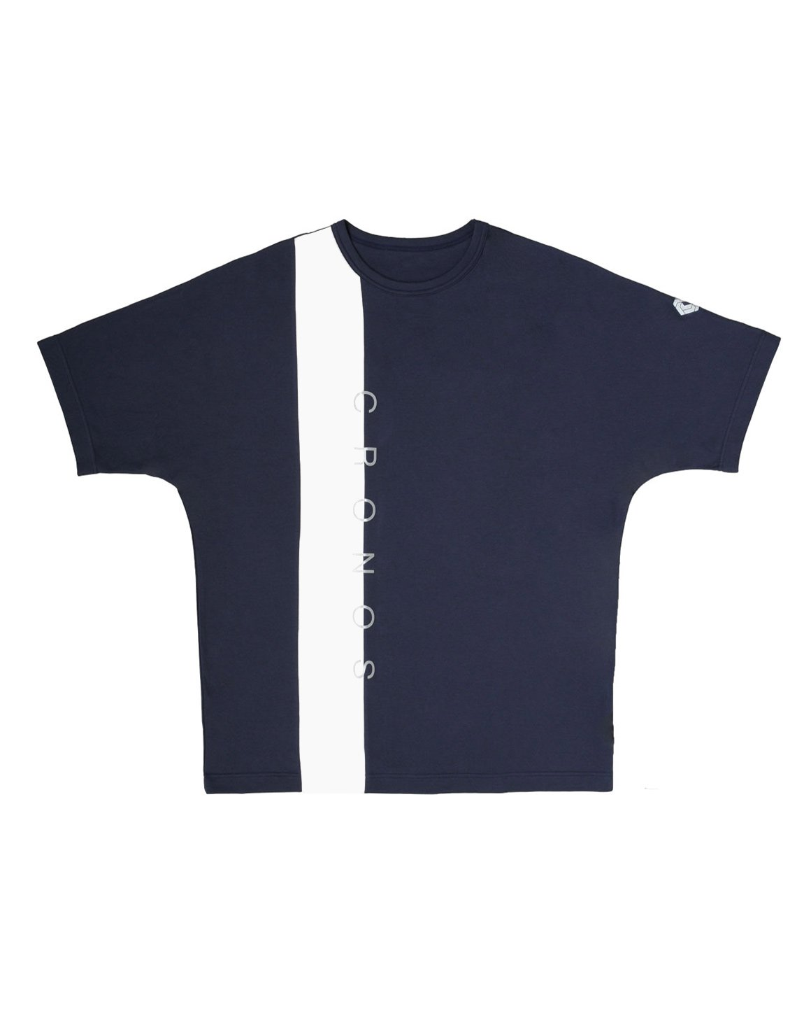 CRONOS VERTICAL LINE OVER SIZE T-SHIRTS【NAVY】