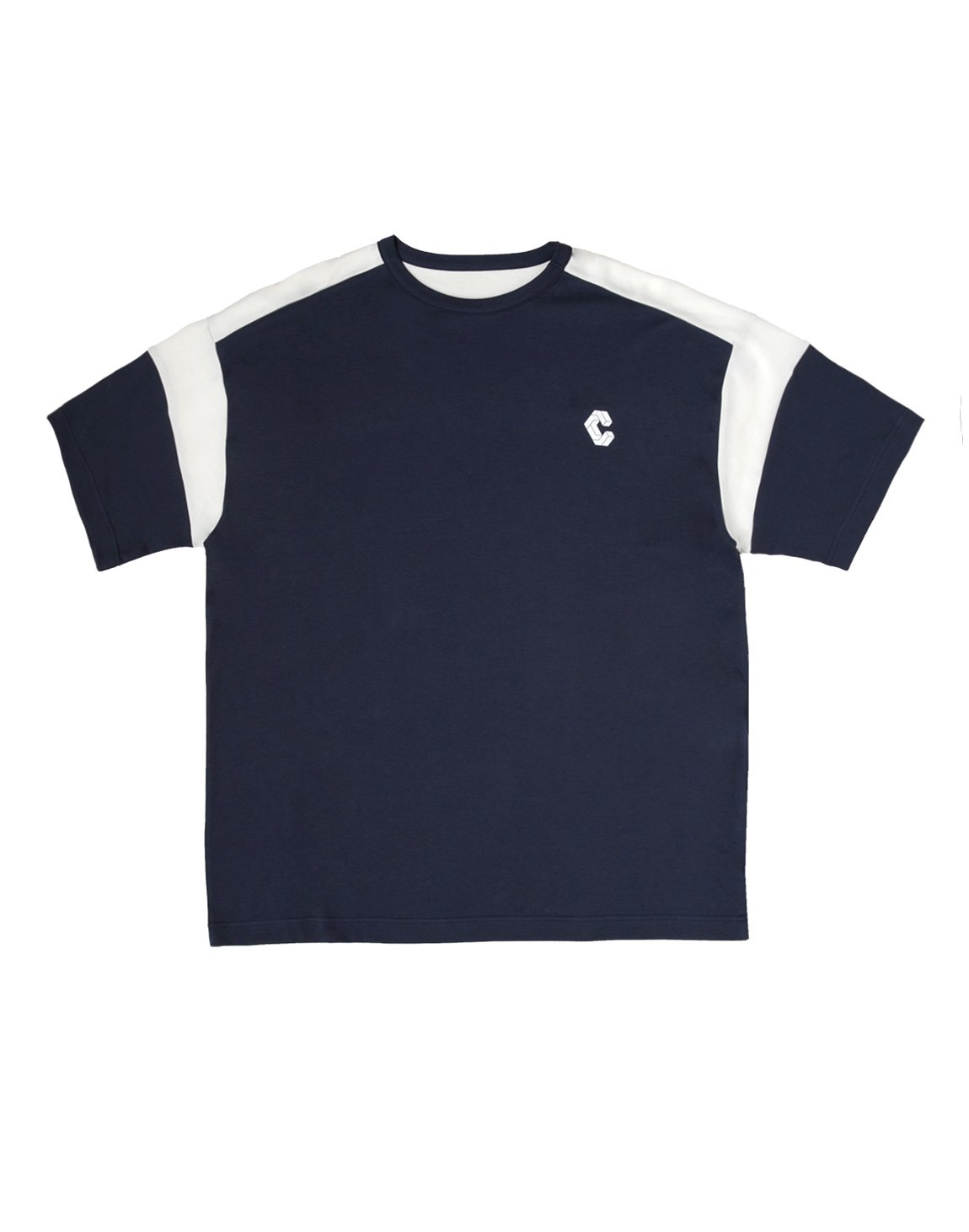 SUPRASPINATUS LINE OVER SIZE T-SHIRTS【NAVY】