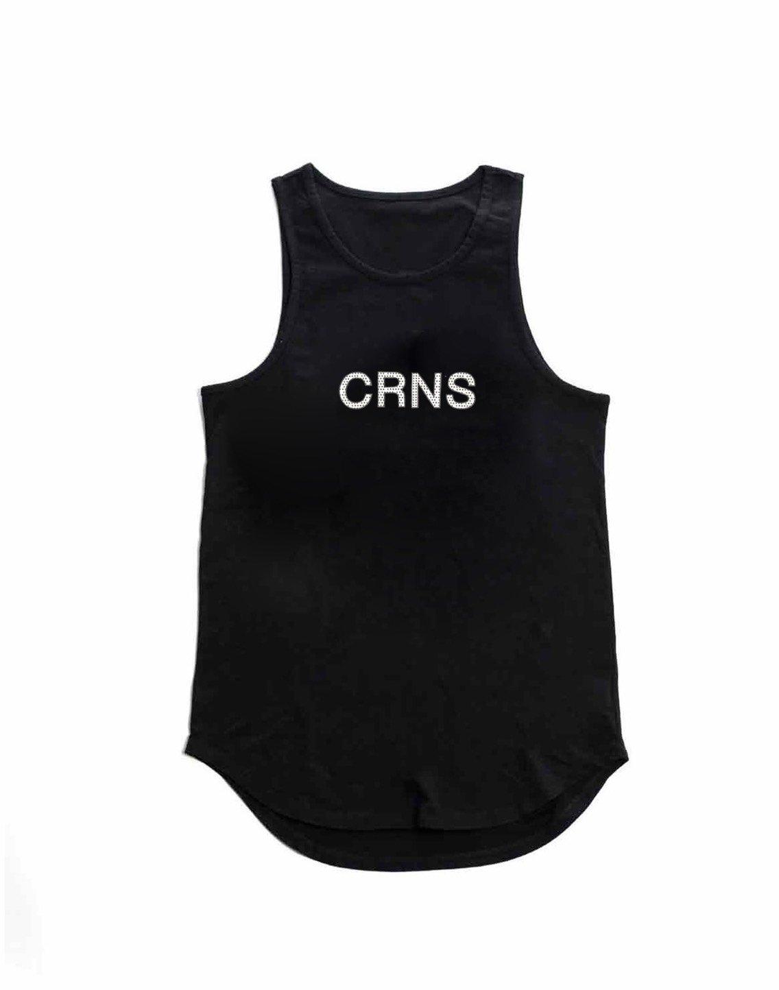 CRNS DOT LOGO TANK TOP【BLACK】
