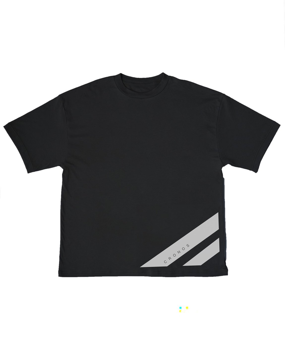 <img class='new_mark_img1' src='https://img.shop-pro.jp/img/new/icons55.gif' style='border:none;display:inline;margin:0px;padding:0px;width:auto;' />CRONOS STRIPE LOGO NEW OVER SIZE T-SHIRTS【BLACK】