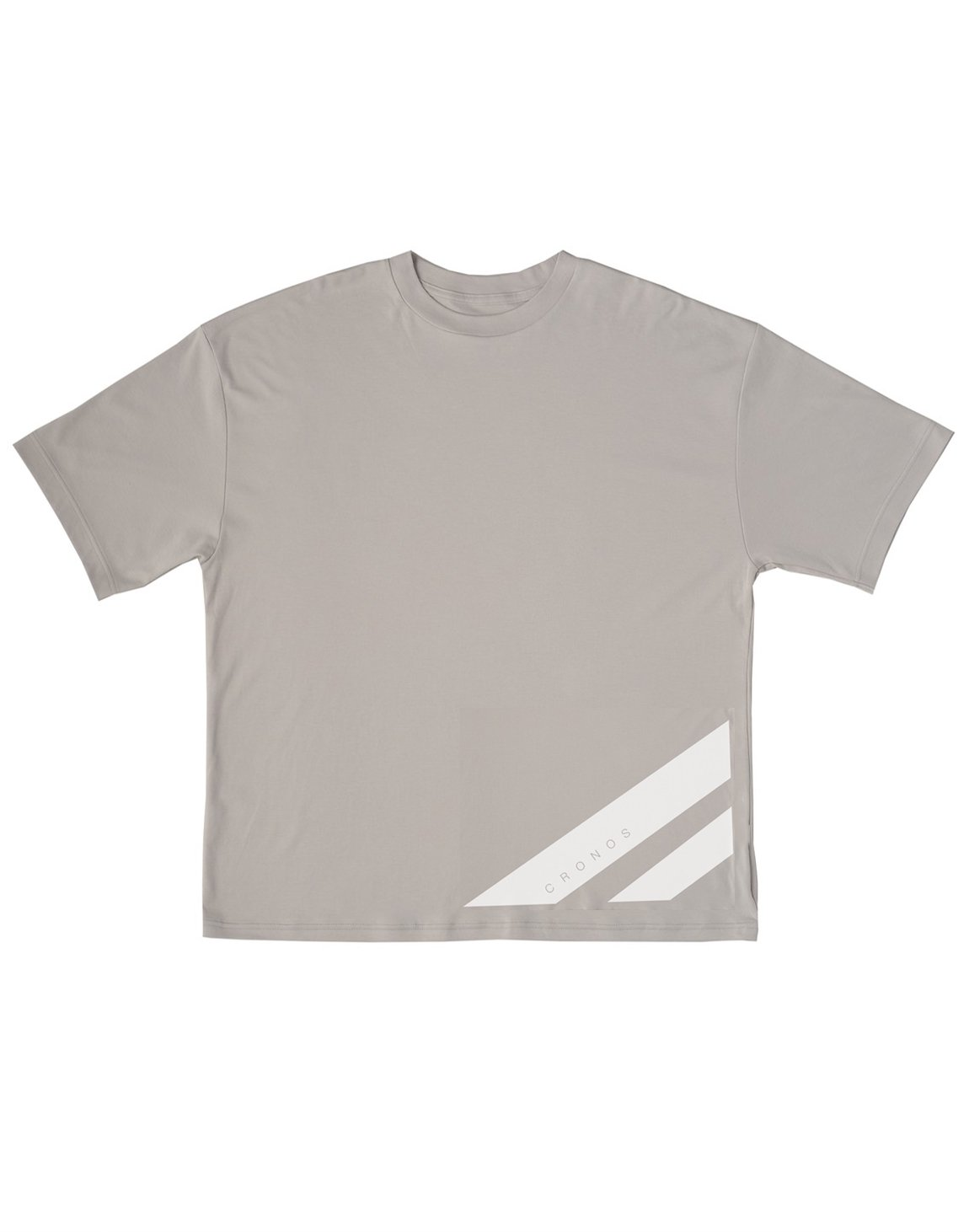 <img class='new_mark_img1' src='https://img.shop-pro.jp/img/new/icons55.gif' style='border:none;display:inline;margin:0px;padding:0px;width:auto;' />CRONOS  STRIPE LOGO NEW OVER SIZE T-SHIRTS【GRAY】