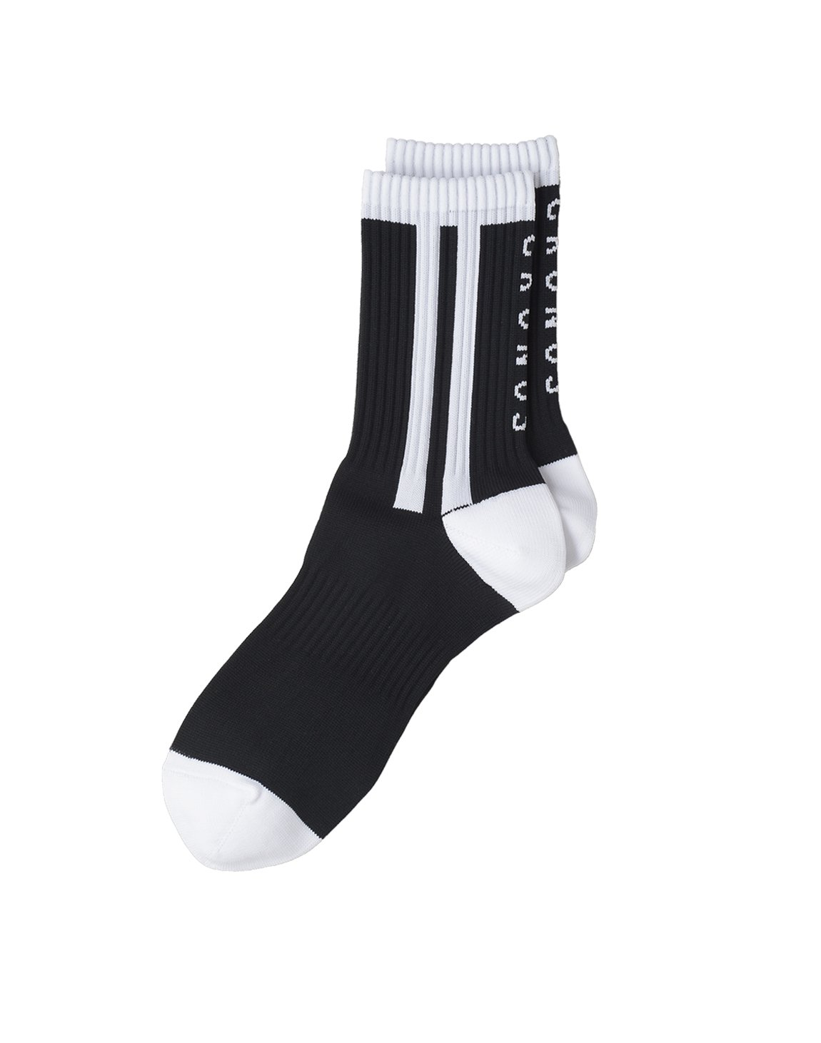 CRONOS 2STRIPE SOCKS【BLACK】
