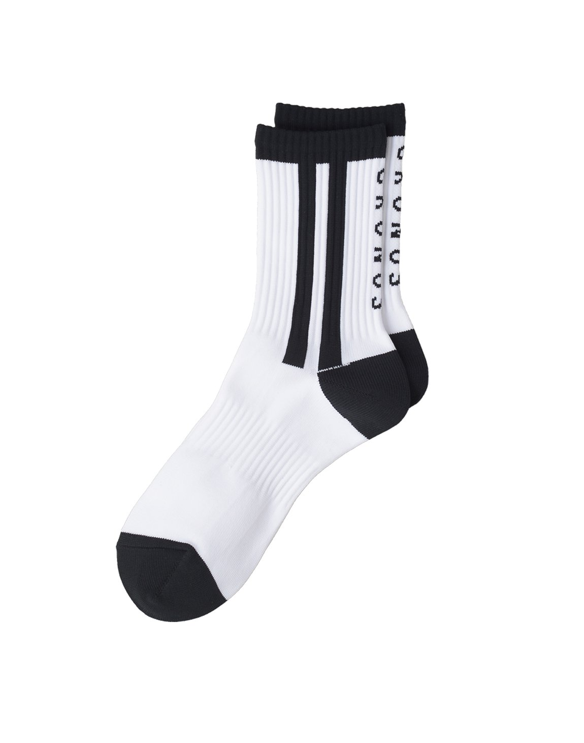 CRONOS 2STRIPE SOCKS【WHITE】