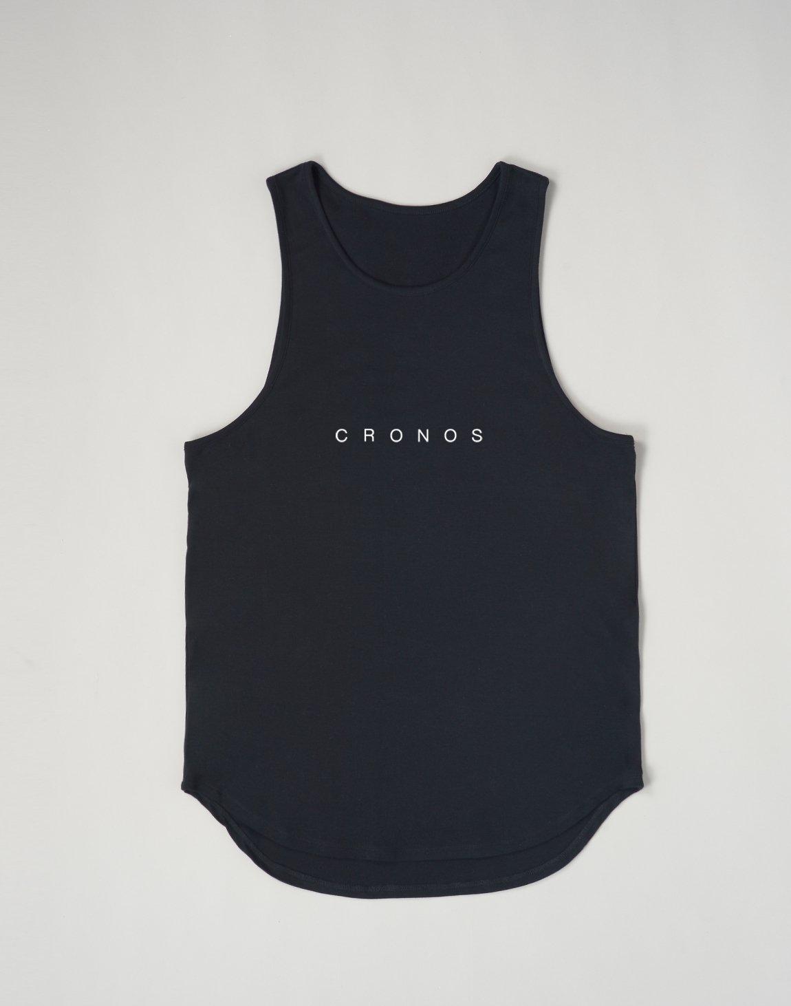 CRONOS NEW FONT LOGO TANK TOP【BLACK】