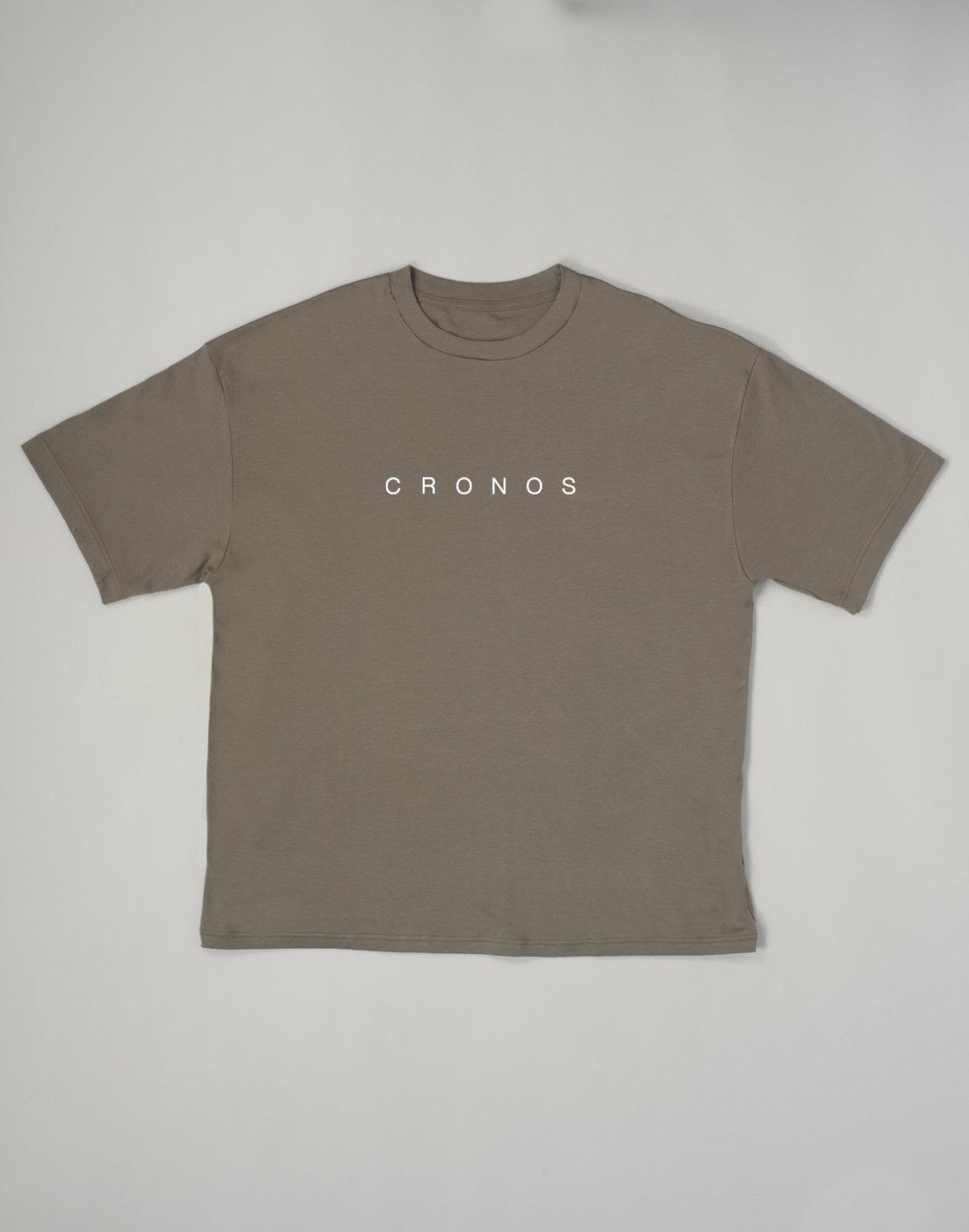 CRONOS NEW FONT LOGO OVER SIZE T-SHIRTS【KHAKI】