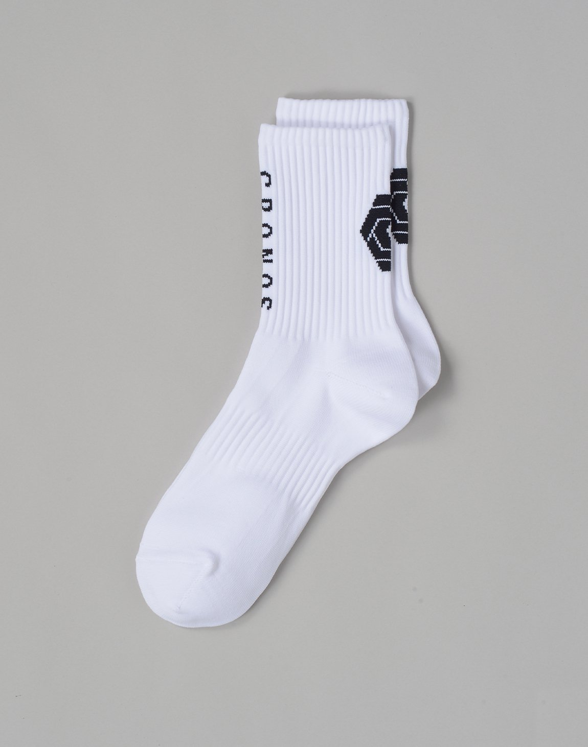 CRONOS BACKLOGO SOCKS【WHITE】