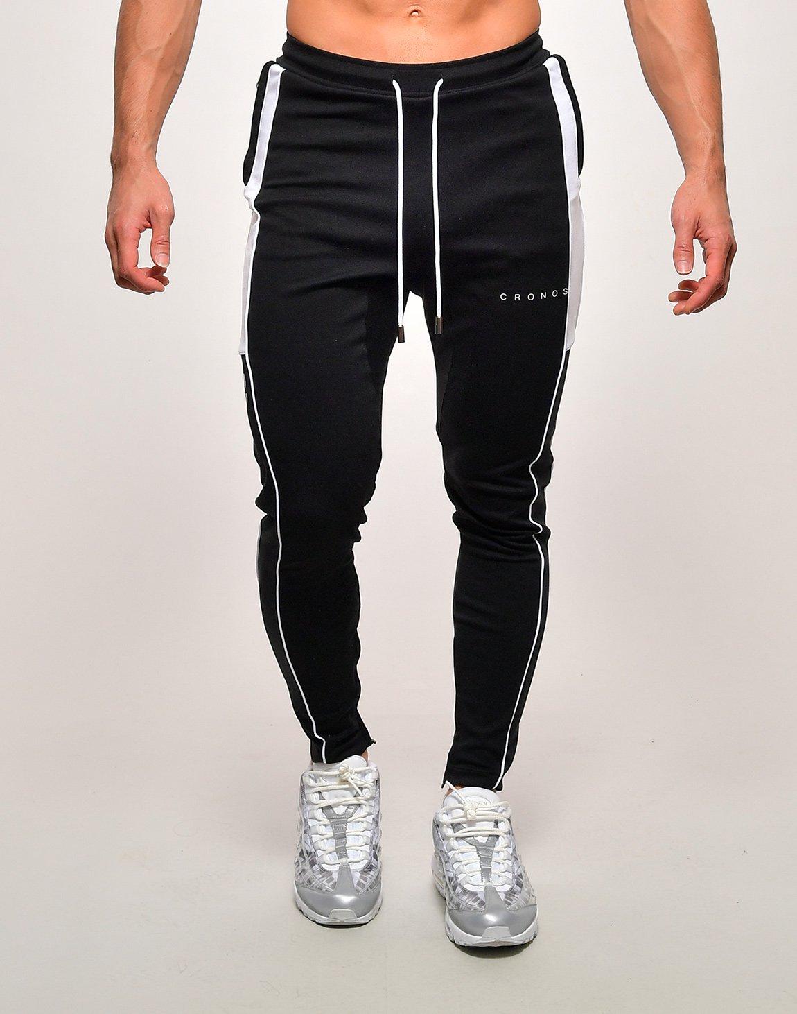 CRONOS ROUND PULLER ZIP PANTS【BLACK×WHITE】