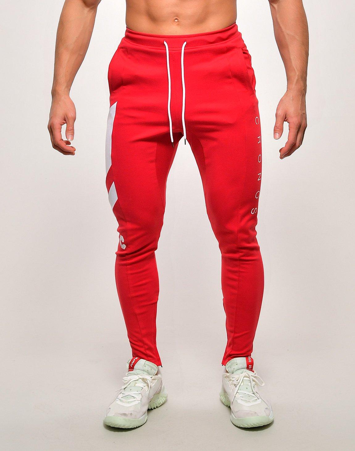CRONOS SLANTED LINE PANTS【RED】