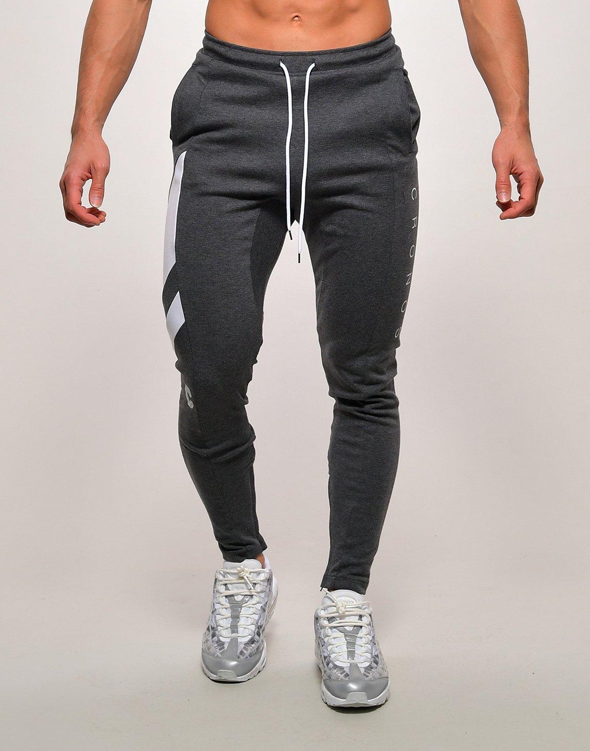 CRONOS SLANTED LINE PANTS【C.GRAY】
