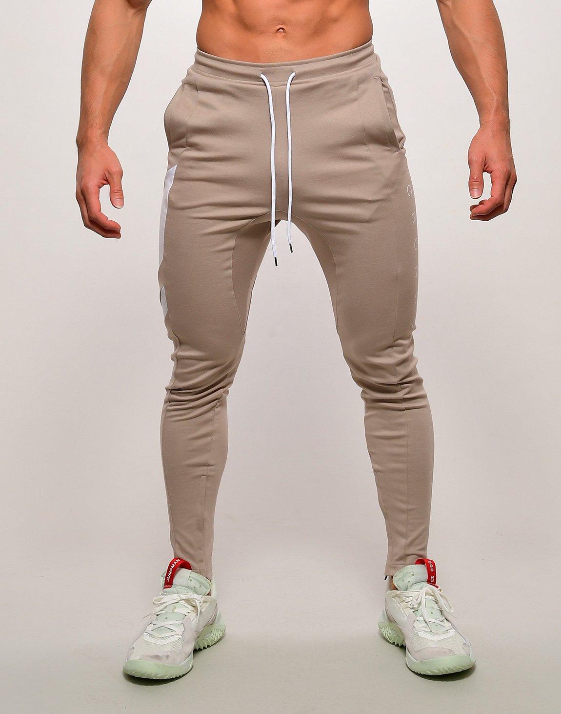 CRONOS SLANTED LINE PANTS【BEIGE】