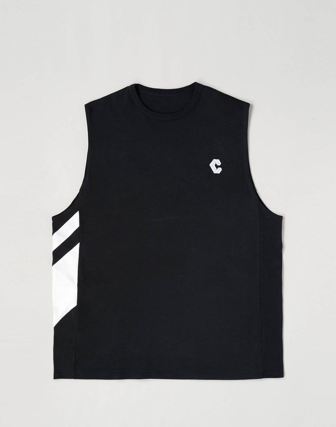 <img class='new_mark_img1' src='https://img.shop-pro.jp/img/new/icons55.gif' style='border:none;display:inline;margin:0px;padding:0px;width:auto;' />CRONOS SLANTED LINE TANKTOP【BLACK】
