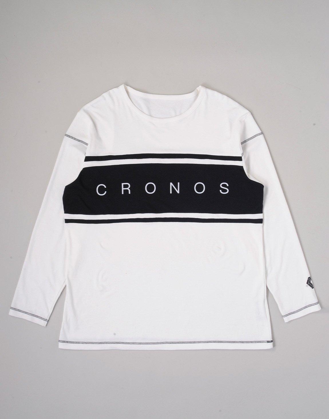 CRONOS BANNER LOGO BIG LONG SLEEVE【WHITE】