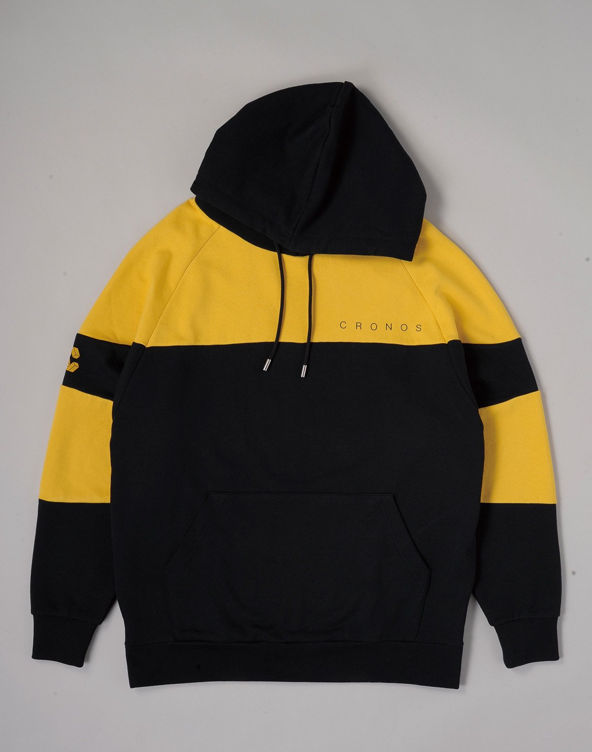 <img class='new_mark_img1' src='https://img.shop-pro.jp/img/new/icons55.gif' style='border:none;display:inline;margin:0px;padding:0px;width:auto;' />CRONOS CUT BACK BASIC HOODIE【BLACKxYELLOW】