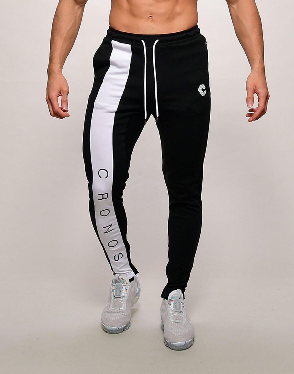 CRONOS FRONT LETTER LOGO  SWEET PANTS【BLACKxWHITE】