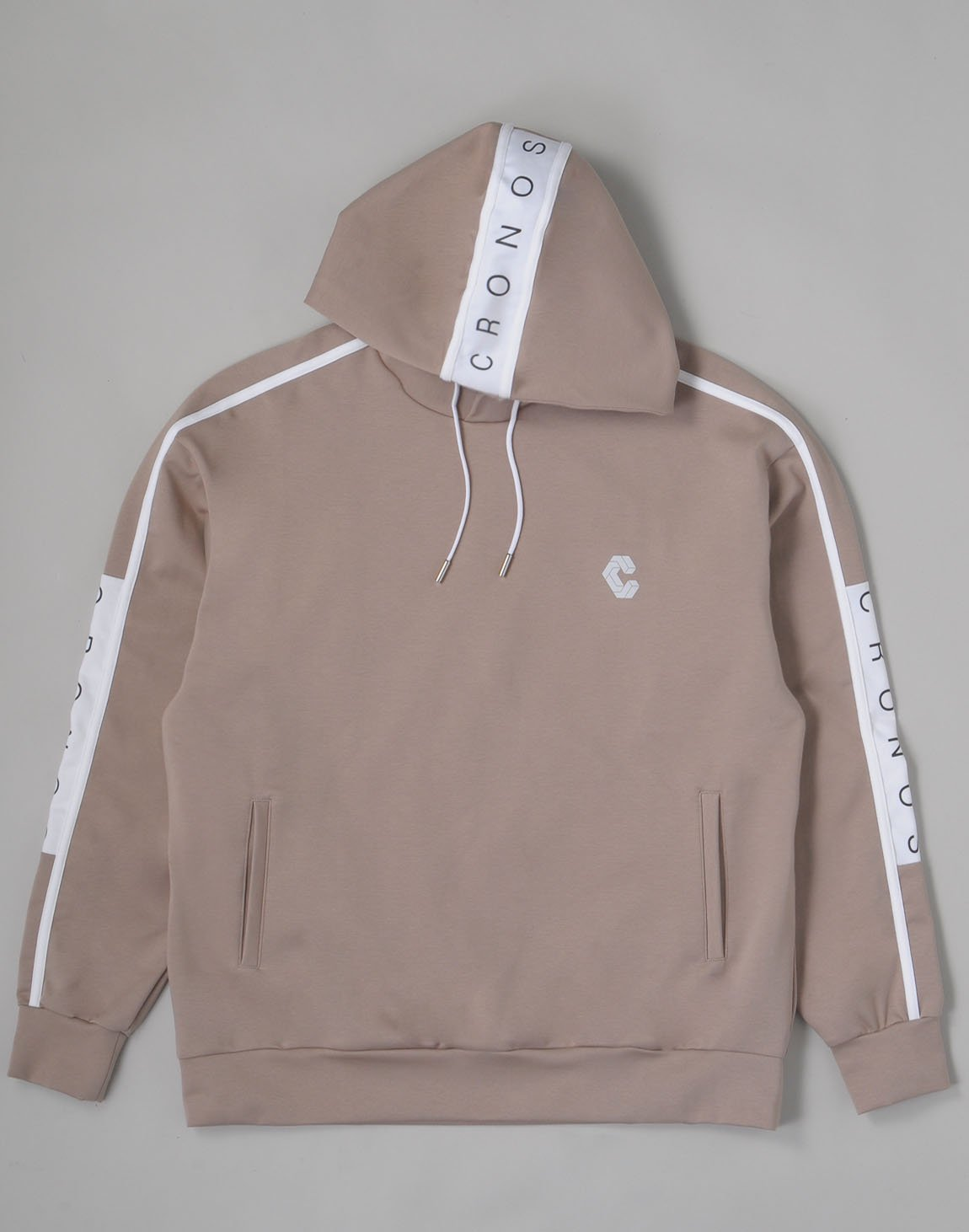<img class='new_mark_img1' src='https://img.shop-pro.jp/img/new/icons1.gif' style='border:none;display:inline;margin:0px;padding:0px;width:auto;' />CRONOS ARM LINE LOGO HOODIE【BEIGExWHITE】