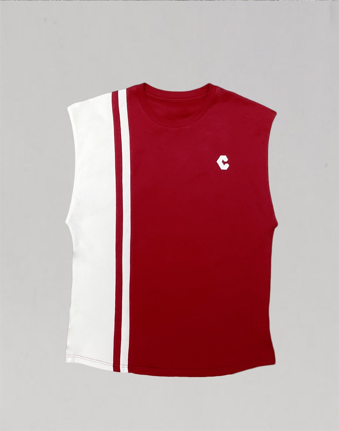 CRNOS STRAIGHT LINE LOGO TOPS【RED】