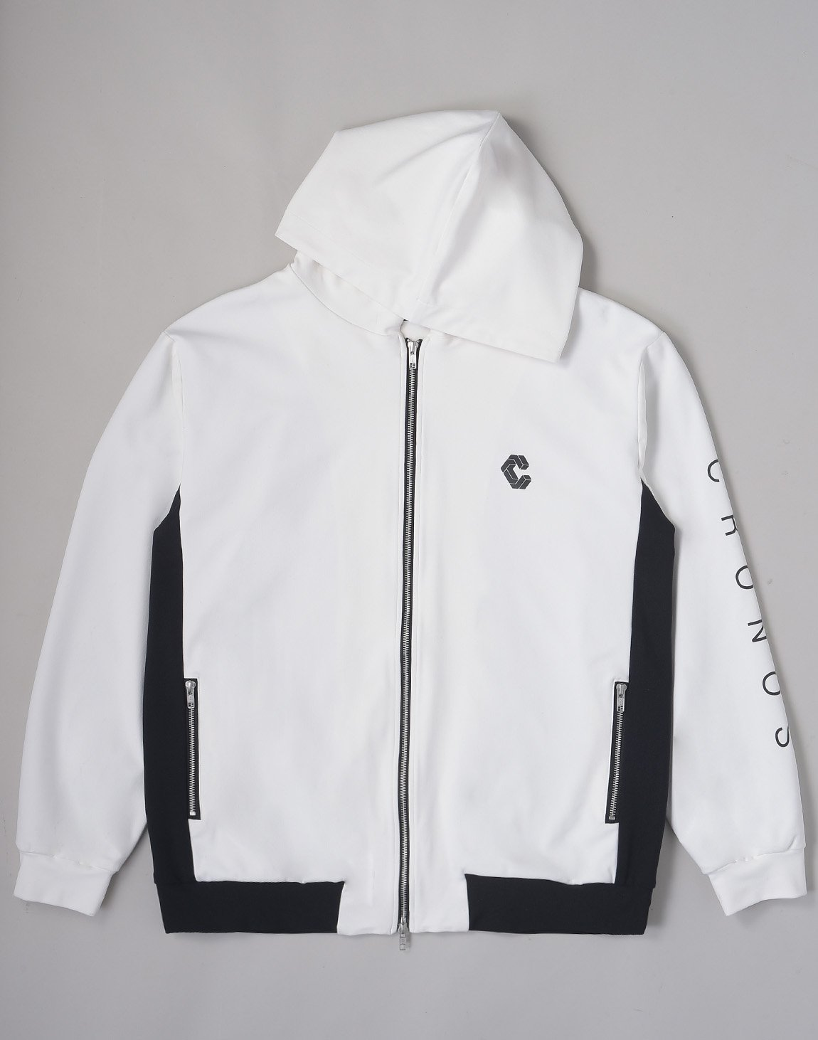 <img class='new_mark_img1' src='https://img.shop-pro.jp/img/new/icons1.gif' style='border:none;display:inline;margin:0px;padding:0px;width:auto;' />CRONOS ARM LOGO HOODED BLOUSON【WHITE】
