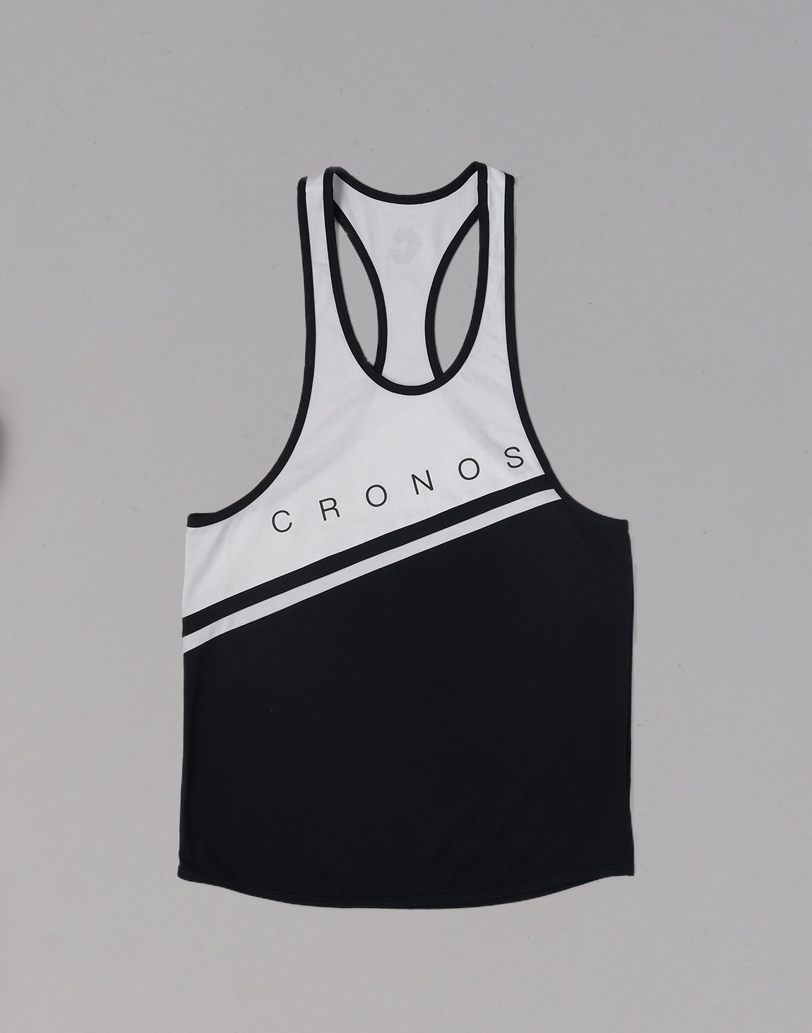 <img class='new_mark_img1' src='https://img.shop-pro.jp/img/new/icons1.gif' style='border:none;display:inline;margin:0px;padding:0px;width:auto;' />CRONOS Bi-COLOR LINE TANKTOP【BLACK】