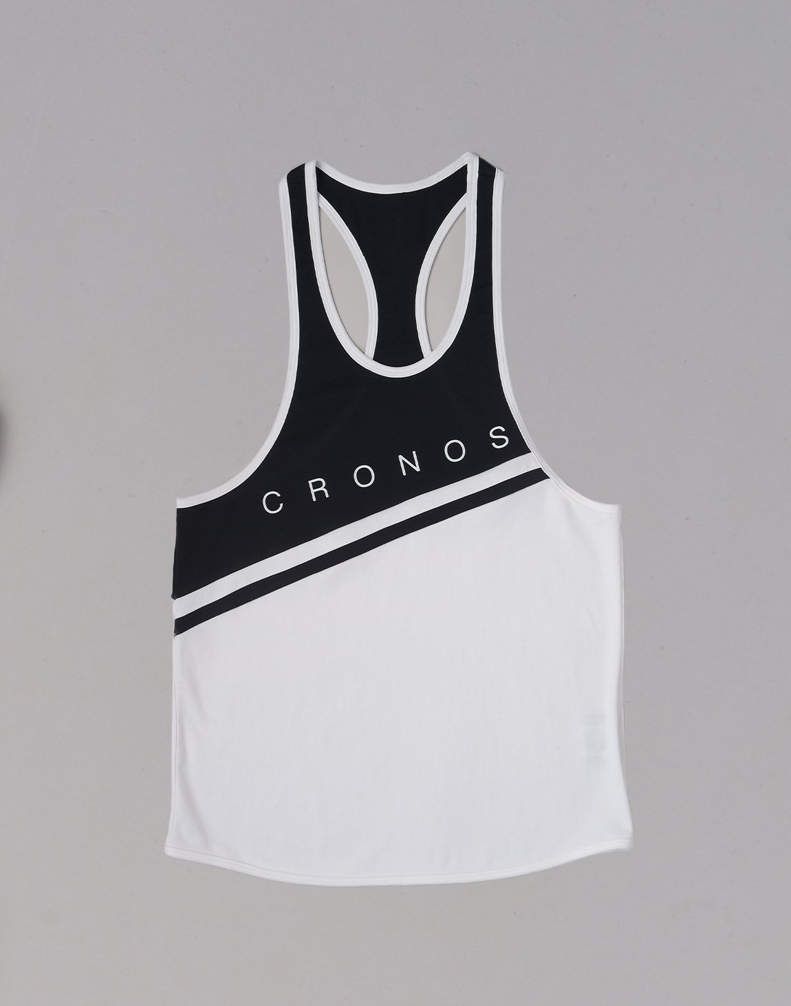 <img class='new_mark_img1' src='https://img.shop-pro.jp/img/new/icons1.gif' style='border:none;display:inline;margin:0px;padding:0px;width:auto;' />CRONOS Bi-COLOR LINE TANKTOP【WHITE】