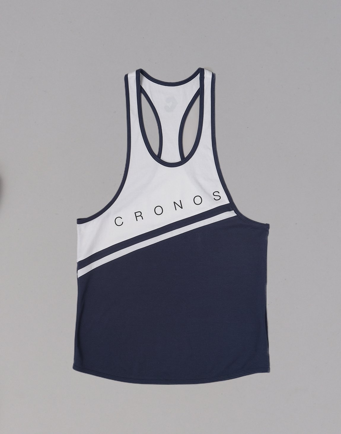 <img class='new_mark_img1' src='https://img.shop-pro.jp/img/new/icons1.gif' style='border:none;display:inline;margin:0px;padding:0px;width:auto;' />CRONOS Bi-COLOR LINE TANKTOP【NAVY】