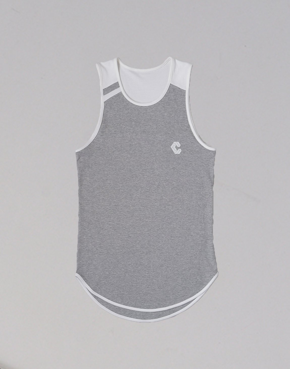 <img class='new_mark_img1' src='https://img.shop-pro.jp/img/new/icons1.gif' style='border:none;display:inline;margin:0px;padding:0px;width:auto;' />CRONOS UNDER BACK LOGO TANKTOP【GRAY】