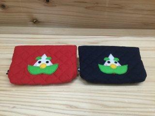 ざおうさま ポーチ 2 種類 赤 / 青