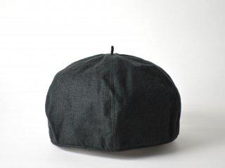 linen beret / BLACK