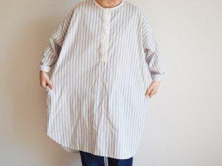 Alluaudia works Stripe Shirt one-piece/ WHITE