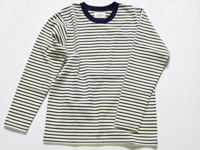 border long sleeve t-shirt /  NATURAL