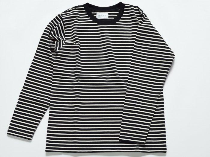 border long sleeve t-shirt /  BLACK