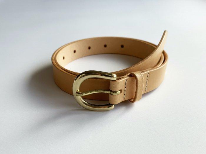 leather belt / TAN