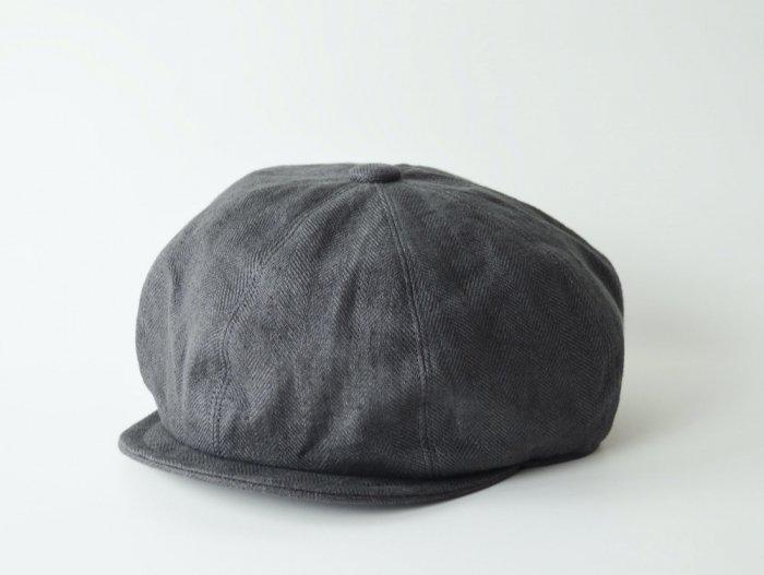 linen hb casquette / CHARCOAL GREY