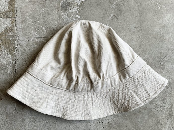 cotton twill hat / NATURAL