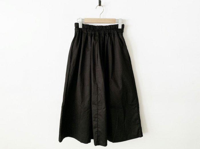 chino long skirt / BLACK