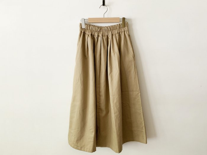 chino long skirt / BEIGE