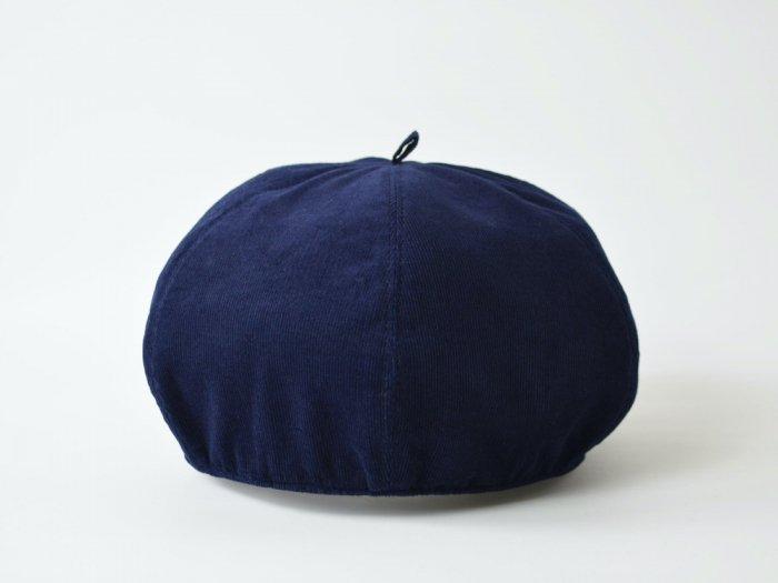 corduroy beret / NAVY