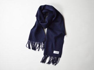 wool cashmere scarf  /  NAVY