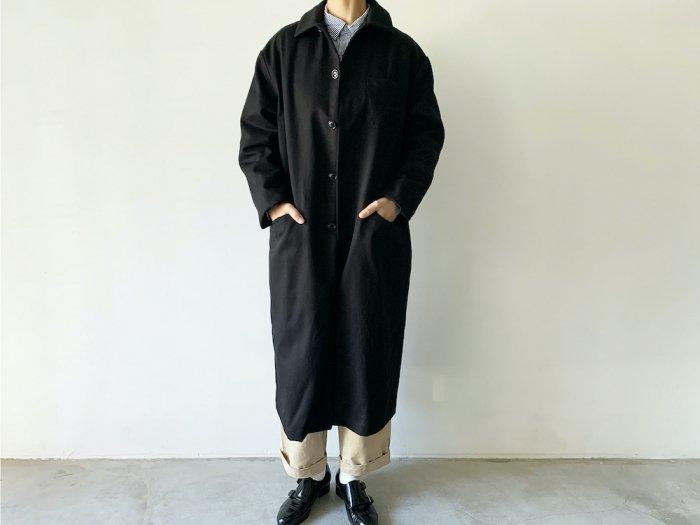 drill overcoat / BLACK