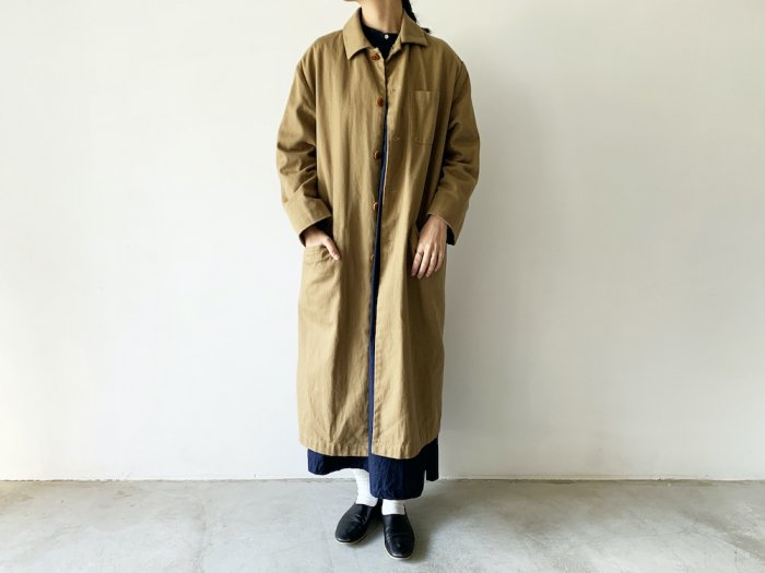 drill overcoat / KHAKI