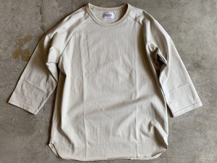 baseball t-shirt /  BEIGE