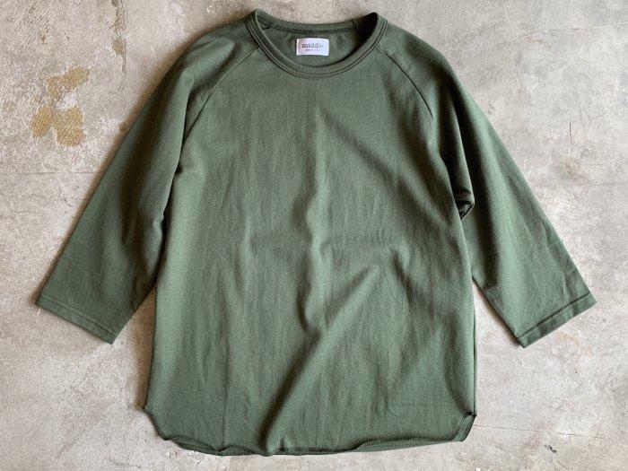 baseball t-shirt /  DARK GREEN