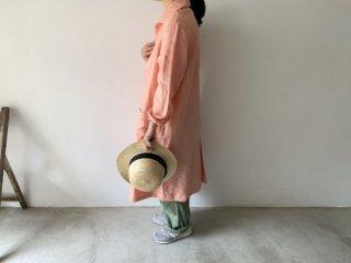 linen shop coat / PEACH